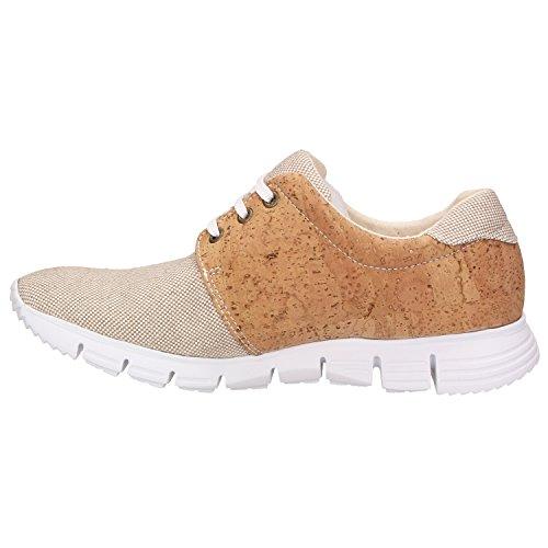 ZWEIGUT Hamburg- Echt #408 vegane Kork-Sneaker mit Flexibler Laufsohle Unisex Schuhe, Schuhgröße:42, Farbe:Beige-Kork - 3