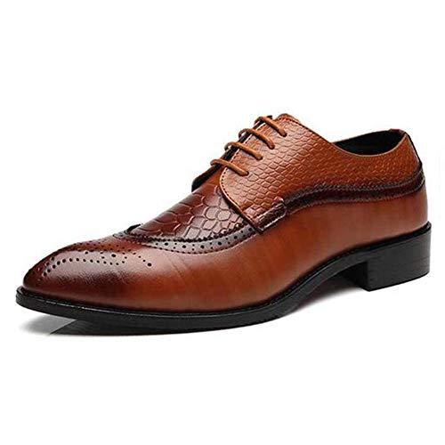 Herren Oxford Schuhe Leder Lace Up wies bequemes Kleid Schuhe City Work Schuhe (Dansko Leder Schuhe)