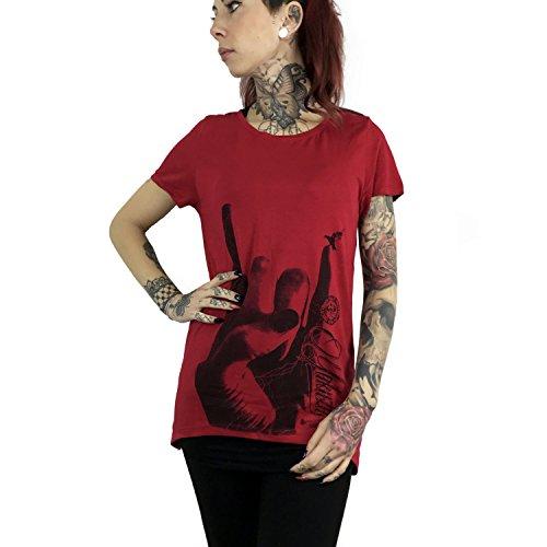 Yakuza Original Damen Rocker Limpid Shirt Crimson