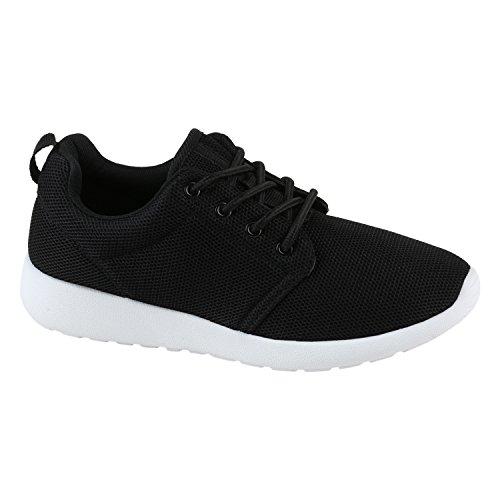 Damen Sport Neon Lauf Runners Sneakers Fitness Schnürer Prints Blumen Übergrößen Schuhe 142275 Schwarz Bernice 40 | Flandell®