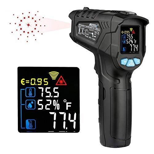 TLfyajJ Misuratore di Temperatura Digitale Senza Contatto con emissività Regolabile a termometro a infrarossi Nero IR01C