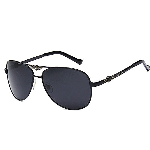 Wxx000 Polarisierte Sonnenbrille Unisex Classic Round Metal Frame Retro Sonnenbrille (Color : Silver)
