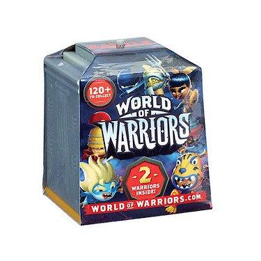 World of Warriors – 2-Pack – 2 Mini-Figurines de Guerriers + 1 Temple – Modèle Aléatoire