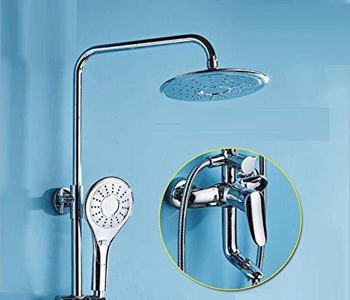 KaO0YaN-Shower Continental Full Kupfer Warmwasser A Taste Drei Kontrollen Dusche Dusche Eingestellt Handheld- Dusche Badezimmer Duschsystem Duschset Continental-taste