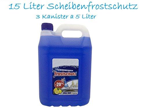 3x 5L Scheibenfrostschutz Frostschutzmittel 15L Waschanlagenzusatz Frostschutz gebrauchsfertig -20C