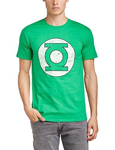 Green Lantern - Maglietta, Manica corta, Uomo, verde (Irish Green), XL
