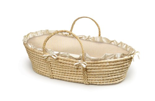 Badger Basket Company Natural Baby Moses Panier