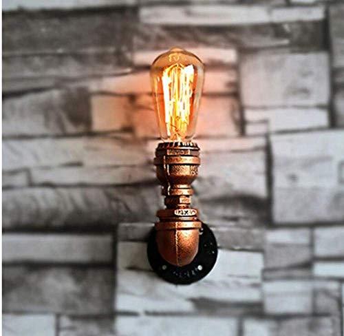 Alte Bronze Pendelleuchte Lampe (Deckenleuchten Lampen Kronleuchter Pendelleuchten Eisen Wandleuchte Alte Bronze Indoor Pipe Wandbeleuchtung Industrie Lampe Editon Licht E27 220-240V Kücheneinrichtung für Schlafzimmer Wohnzimmer Küc)