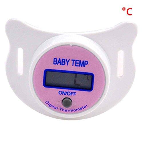 Mengonee Baby Nippel Thermometer medizinische Schnuller LCD Digital Thermometer Gesundheit Sicherheit Pflege Thermometer für Kinder Baby Zubehör - Digitale Baby Schnuller-thermometer