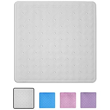 Extra Long 13.5 x 30 Inch Antibacterial with Suction Cups YumSur Non Slip Shower Mat Machine Washable Anti Slip Bath Mat