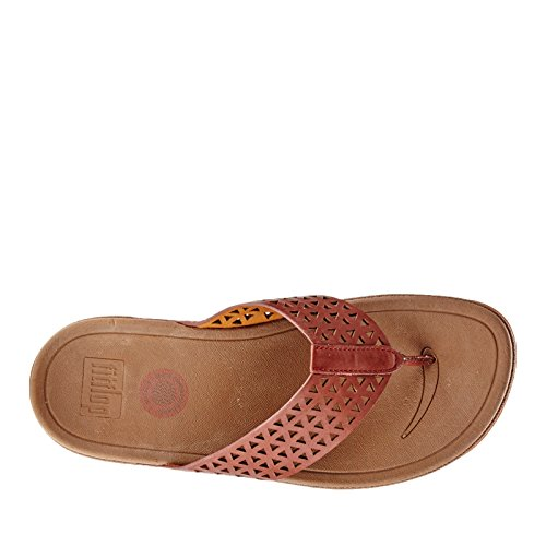 FitFlop Leather Lattice Surfa, Sandales femme Marron