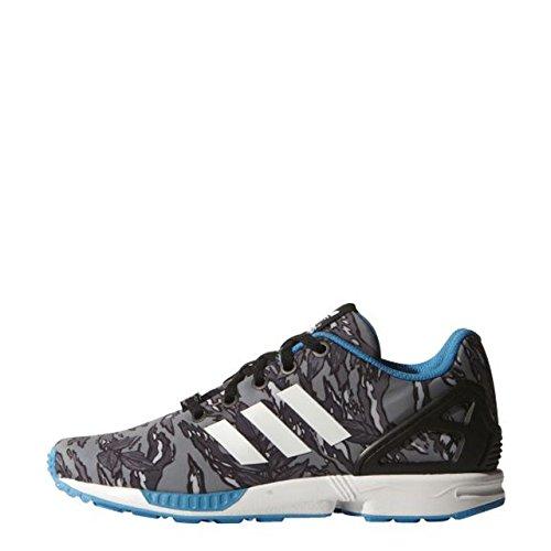 Adidas Zx Flux K Scarpe Sportive, Ragazzo Cblack/Ftwwhite/Solblu