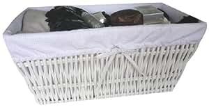 rangement cie ran4529 korb rechteckig geflochten wei. Black Bedroom Furniture Sets. Home Design Ideas