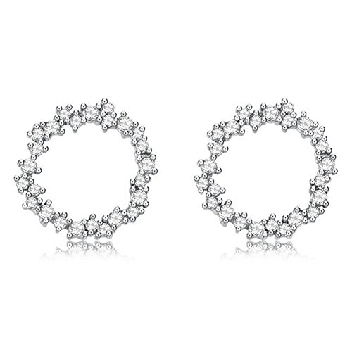 Galwaygirls Ohrringe 925 Sterling Silber Damen Koreanische Version der Einfachen Diamant Zirkon Mode Ohrringe - Chanel Diamant