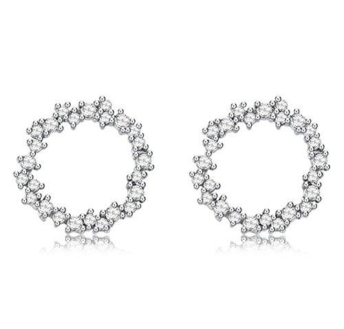Galwaygirls Ohrringe 925 Sterling Silber Damen Koreanische Version der Einfachen Diamant Zirkon Mode Ohrringe - Diamant Chanel