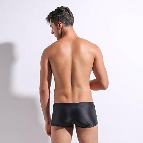 Lantra Besa Herren Kurze Badehose Badeshorts Trunks Bottom Shorts für Sommer Schwimmen mit Elasthan Eng Elastisch Hochwertige Strand Bekleidung Typ 8 Schwarz