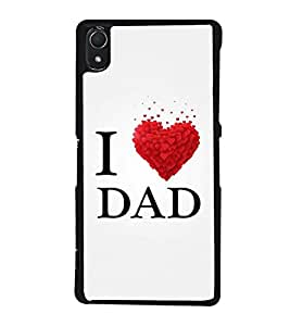 Fuson Premium 2D Back Case Cover I love Dad With Blue Background Degined For Sony Xperia Z3::Sony Xperia Z3 D6653 D6603