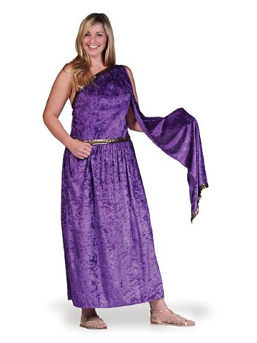 Roman Purple Female Toga Plus