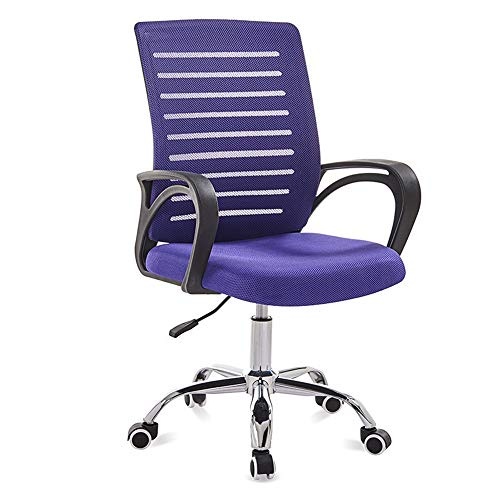 Biezutu Büro-Vorsitzender mit Ergonomic Design, Mesh Swivel Lehrstuhl für Home Office Work Computer Gaming Desk Chair,Purple