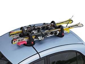 Porte-skis Magnétique pour Volkswagen Tiguan II - (de 2014 => ...) - 2 paires de skis + 4 bâtons avec antivol - Motorparadise