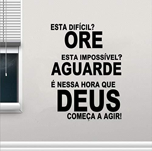 Kostenloser Versand Die portugiesische Version Of God Vinyl - Wand - Aufkleber Diy religiöse Sätze Gott Belief Portugal Wohnzimmer Wohnkultur Abziehbild - Aufkleber