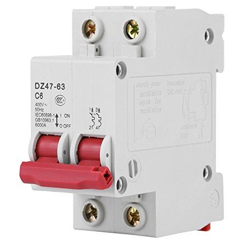 DZ47-63AC400V 50Hz 6A Leitungsschutzschalter Miniatur der Kapazität der Bruch für das Auto Marine Boat Bike Stereo Audio Reset Sicherung 6000A Dual-marine Audio