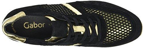 Gabor Ladies Sneakers Sportive Multicolore (nero / Oro 62)
