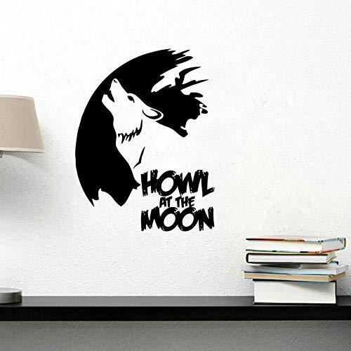 Njuxcnhg Vinyl Wolf von geschnitzten Wandaufkleber Wohnzimmer Schlafzimmer Hintergrund Wand benutzerdefinierte Aufkleber Home Decoration Tier Wandbild