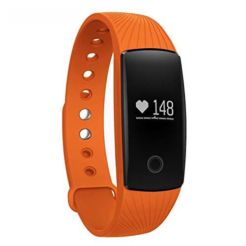 Lcxligang Fitness Tracker HR, Activity Tracker Wasserdichtes Smartwatch-Armband mit Herzfrequenz-Blutdruckpedometer for Android (Color : Orange)