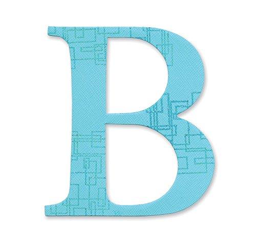 Großbuchstaben Stanzen Sassy Serif Buchstabe