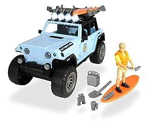 Set M Playlife Surfer Jeep con figura y accesorios (Dickie 3834001)