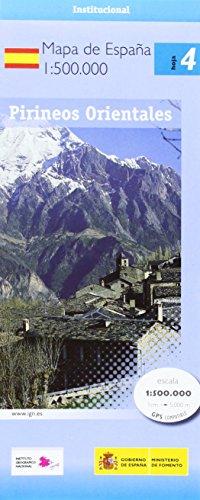 4 Pirineos orientales. Mapa de carreteras. Escala 1:500.000. CNIG.