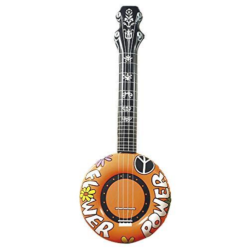 WIDMANN 23953 Aufblasbares Banjo, Unisex– Erwachsene, Orange