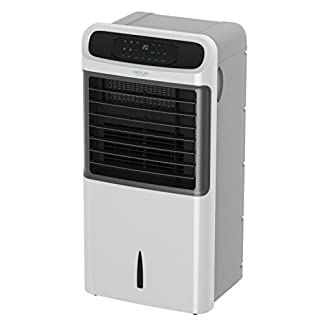 Cecotec Climatizador Evaporativo ForceSilence PureTech 6500. Doble Función Frio / Calor, gran Caudal 600 m³/h, 12l de Capacidad, Temporizador hasta 8 Horas, Mando a Distancia, 3 Velocidades, 80W