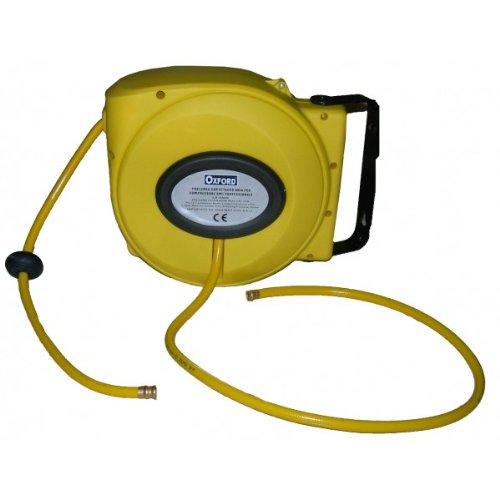 Prolunga avvolgi tubo aria compressa 9 mt compressore avvolgitubo portatile attacco 1/4 mws