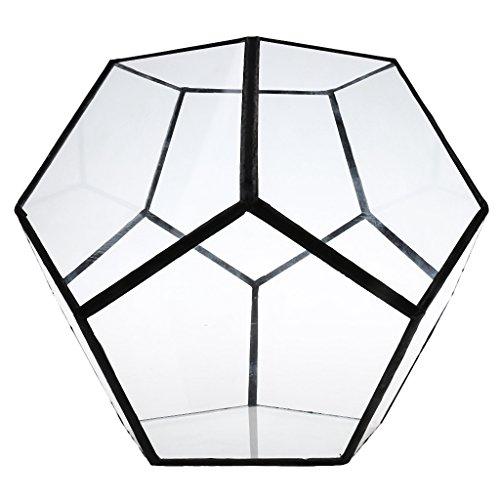 KESOTO Vinatge Metall Glas Geometrische Terrarium Box Glas Sukkulente Pflanzen Pflanzgefäß Deko -...