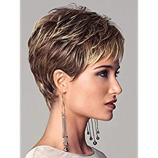 ATG Golden Women's Natural Wavelength Volume Wig Heat-Resistant Role-Playing Party Wig