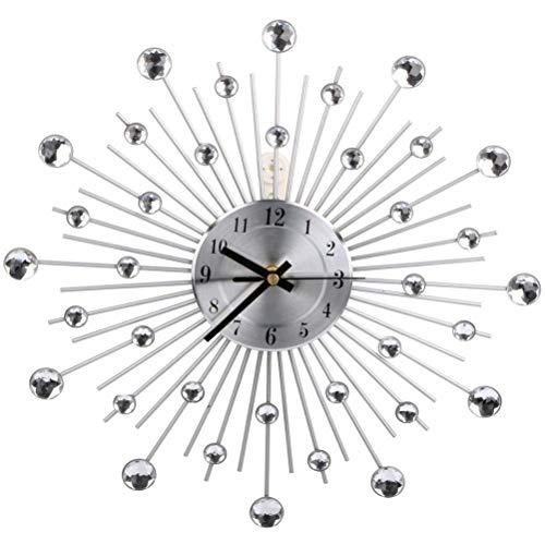YUHT Reloj de Pared de Gran tamaño Reloj de Cuarzo,Moderno Metal Reloj...