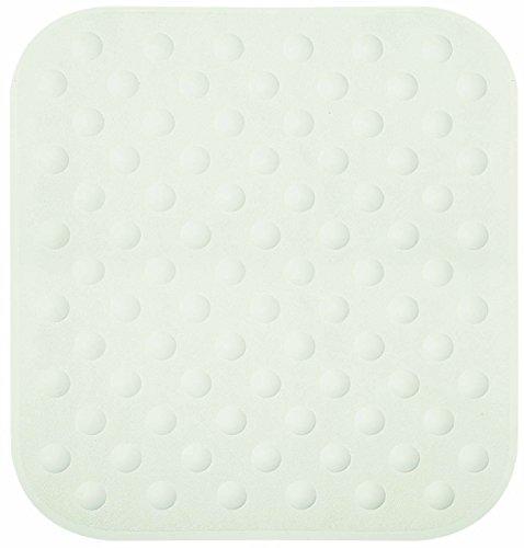 """Spirella 10.16769 Duschmatte Badewanneinlage Anti Rutsch Matte """"Circola"""" antibakteriell rutschfest waschbar 53x53cm Naturkautschuk PVC Frei Weiß"""