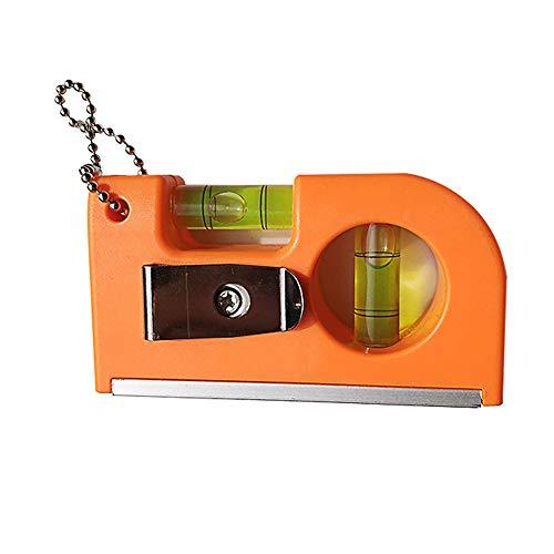 Magnetisches horizontales Lineal, Mini-Schlüsselanhänger-Lineal, mit Magnetfuß, Taschenwaage, Lineal, für professionelle Messung, Holzbearbeitung, Spezialinstrument