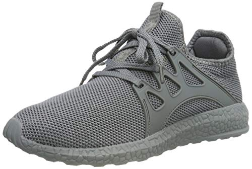 109bb8429 ZOCAVIA Men and Women Trainers Gym Shoes Lightweight Running Sports Shoes  Grey 6 UK .