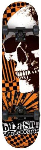 Blast Totenkopf 19,4 breit komplett Skateboard-Orange