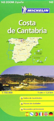 Costa de Cantabria Michelin ZOOM map 143 (Michelin Zoom Maps) por Michelin