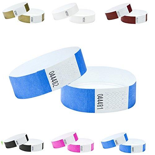 100er Pack Eintrittsbänder, Tyvek, 19mm,Farben wählen (blau)