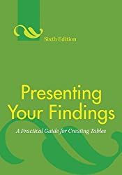 Presenting Your Findings: A Practical Guide for Creating Tables by Adelheid A. M. Nicol (2010-01-30)