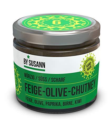 BY SUSANN - 06 FEIGE-OLIVE-CHUTNEY im Glas (1 x 150 g), Geschmackserlebnisse mit intensiven und natürlichen Aromen, würzig, süß, scharf