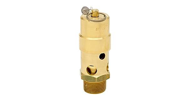 Control Devices SW Series Brass ASME Safety Valve 125 psi Set Pressure 1 Male NPT