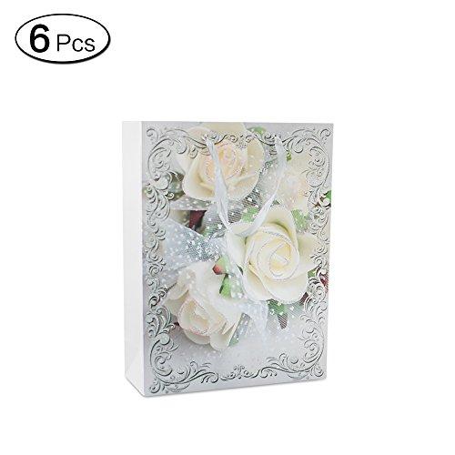 se Papier Geschenk Tasche mit Griffen Paket Bulk für Hochzeit Geschenk S ()