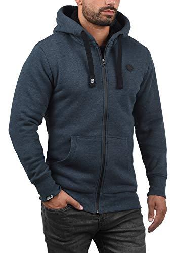 !Solid Bene Zip Hood Pile Herren Winter Sweatjacke Kapuzen-Jacke Zip-Hoodie Pullover mit Kapuze und Teddy-Futter, Größe:S, Farbe:INS BLU M (P8991) - 2