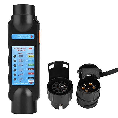 Anhängerstecker Tester, 12V 7Pin / 13Pin Abschlepplicht Kabel Stromkreis Stecker Steckdose Tester für Auto Anhänger (nur für europäische Fahrzeuge)